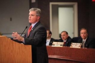 Bellone addresses County Legislature of Health Bill